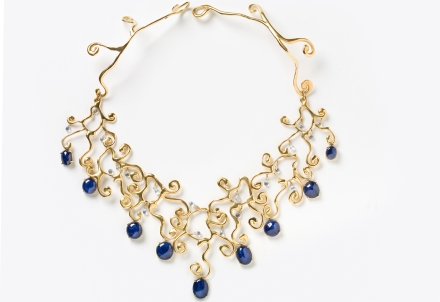 Ariane Zurcher Jewelry ~ Isis Collection: 18 Kt Gold & Sapphire Necklace