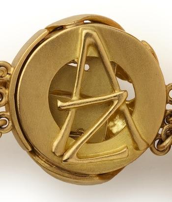Ariane Zurcher Jewelry ~ The Back of AZ Logo Box Clasp on Juno Bracelet