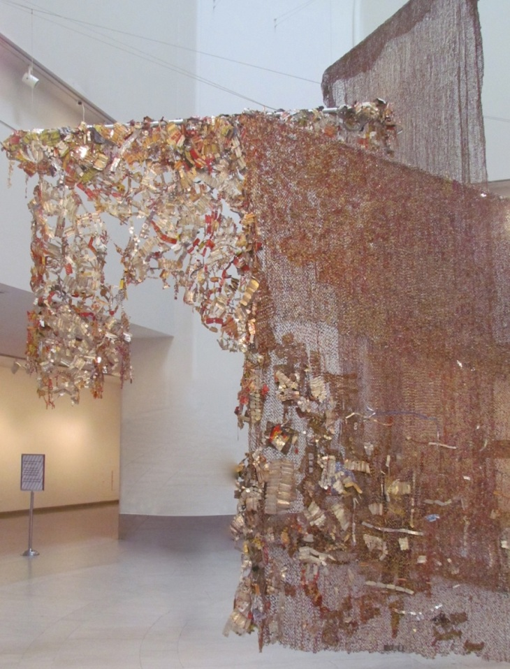 Gli (Wall), 2010 El Anatsui Aluminum and Copper Wire