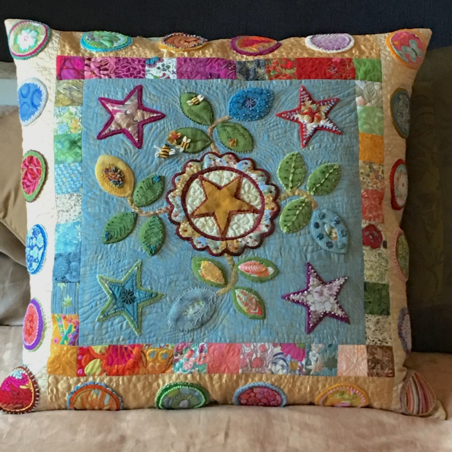 The Finished QuiltedPillow
